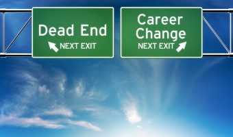 Career change or dead end job concept